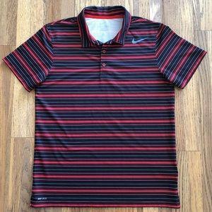 Nike Golf Dri-Fit polyester stripe polo shirt, L